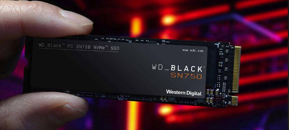 В продажу поступили Western Digital Black SN750 NVMe SSD