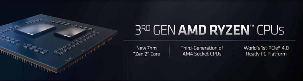 AMD представила 7нм процессоры Ryzen 3000