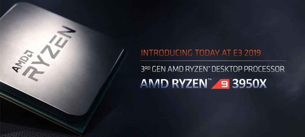 Представлен 16-ядерный AMD Ryzen 9 3950X с ценником 750 $